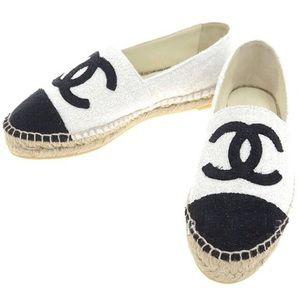 Chanel Black & White Espadrilles